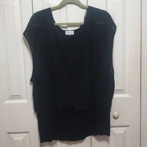 Black Plus Size Blouse Chiffon
